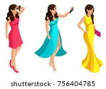 quality isometry  3d beautiful...   Shutterstock .eps vector #756404785