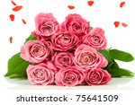 Pink Roses With Heart Rain...