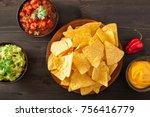 mexican nachos tortilla chips...   Shutterstock . vector #756416779
