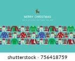 illustration vector christmas... | Shutterstock .eps vector #756418759
