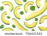 Healthy Food. Sliced Avocado...