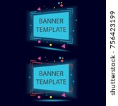 vector web banners templates.... | Shutterstock .eps vector #756423199