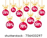 set of discount tags 10 15 20... | Shutterstock .eps vector #756433297