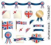 united kingdom decorative... | Shutterstock .eps vector #75643687
