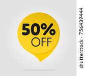 offer sale label isolated... | Shutterstock .eps vector #756439444
