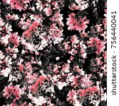 floral pattern repeat | Shutterstock . vector #756440041
