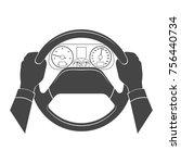 man after a helm monochrome... | Shutterstock . vector #756440734