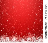 red glowing light snow... | Shutterstock .eps vector #756441454