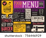 food truck menu for street... | Shutterstock .eps vector #756446929