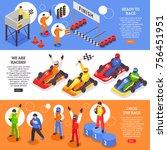 isometric carting horizontal... | Shutterstock .eps vector #756451951