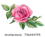 composition of flowers anemone... | Shutterstock . vector #756454795