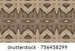 abstract brown background is... | Shutterstock . vector #756458299