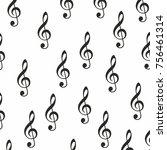 music sign notes vector... | Shutterstock .eps vector #756461314
