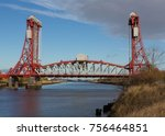 the newport bridge over the... | Shutterstock . vector #756464851