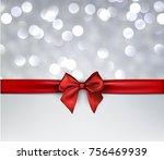 grey bokeh festive background... | Shutterstock .eps vector #756469939