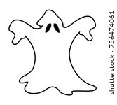 ghost isolated on white... | Shutterstock .eps vector #756474061