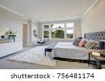 light filled bedroom boasts a...   Shutterstock . vector #756481174