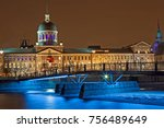 bonsecures market at night from ... | Shutterstock . vector #756489649