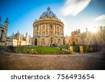 library in oxford with... | Shutterstock . vector #756493654