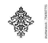 vintage baroque frame scroll... | Shutterstock . vector #756507751