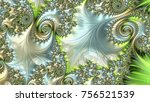 an abstract computer generated... | Shutterstock . vector #756521539