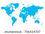 color world map vector | Shutterstock .eps vector #756524707