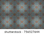 seamless floral pattern in...   Shutterstock . vector #756527644