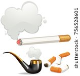 different types of cigarette...   Shutterstock .eps vector #756528601