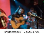 acoustic trio band performing... | Shutterstock . vector #756531721