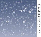 blue christmas snowflakes... | Shutterstock .eps vector #756532114