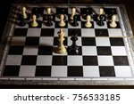 two kings chess board facing... | Shutterstock . vector #756533185