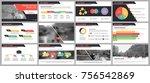 presentation templates elements ... | Shutterstock .eps vector #756542869