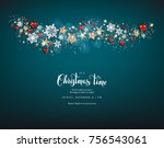 shine decoration with... | Shutterstock .eps vector #756543061