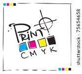 logo cmyk print concept design  ... | Shutterstock .eps vector #75654658