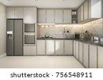3d rendering beautiful modern...   Shutterstock . vector #756548911