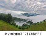 tropical mountains layer and... | Shutterstock . vector #756550447