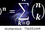 math equations and formulas in... | Shutterstock . vector #756551449