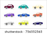 car icons. isolated vector... | Shutterstock .eps vector #756552565