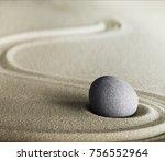 zen stone and sand meditation... | Shutterstock . vector #756552964