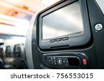close up lcd monitor screen... | Shutterstock . vector #756553015