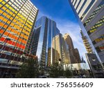 beautiful buildings at downtown ... | Shutterstock . vector #756556609