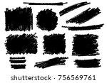 vector set of hand drawn marker ...   Shutterstock .eps vector #756569761