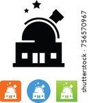 observatory telescope icon   Shutterstock .eps vector #756570967