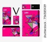 corporate dentity template set. ... | Shutterstock .eps vector #756585439