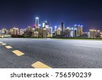panoramic skyline and buildings ... | Shutterstock . vector #756590239