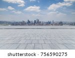 panoramic skyline and buildings ... | Shutterstock . vector #756590275