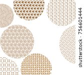 round geometric golden... | Shutterstock . vector #756601444