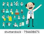 vector collection of many... | Shutterstock .eps vector #756608671