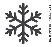 snowflake glyph icon  new year... | Shutterstock .eps vector #756614251