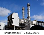 a large oil refinery plant and... | Shutterstock . vector #756623071